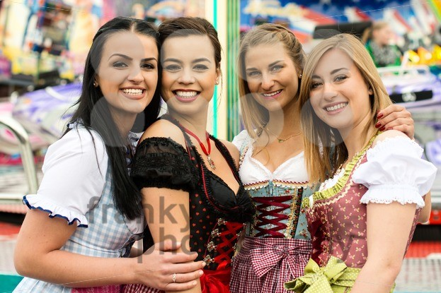 4 gorgeous young women at German funfair - franky242 photography