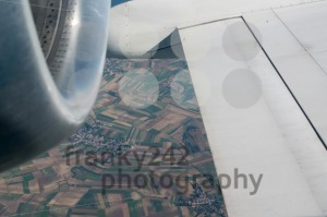 Airplane wing and turbine - franky242 photography