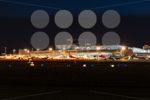 Airport Terminal of Stuttgart (Germany) at dusk - franky242 photography
