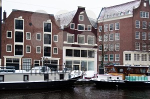 Amsterdam-Canal-with-House-Boats