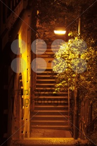Ancient-Passage-with-stairs-at-night