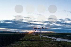 Approaching the airport at dusk - franky242 photography