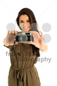 Attractive Woman with photo camera - franky242 photography