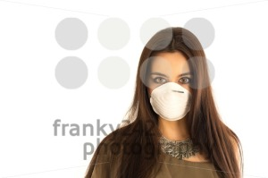Attractive woman wearing a protective mask - franky242 photography