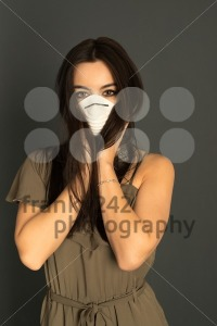 Attractive woman with protective mask - franky242 photography
