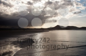 Beautiful Sunset On Famara Beach, Lanzarote - franky242 photography