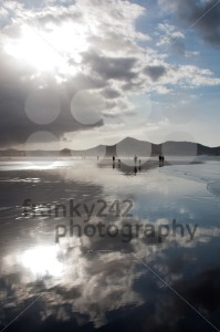 Beautiful Sunset On Famara Beach, Lanzarote - franky242 photography