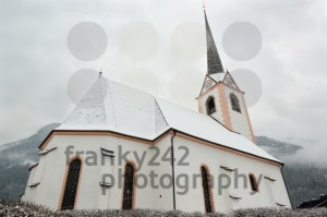 Beautiful church with mountains - franky242 photography