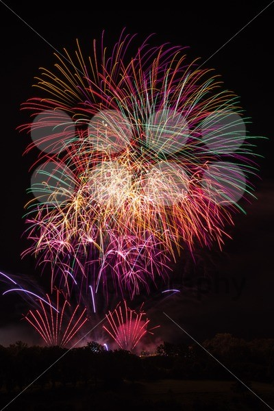 Beautiful colorful fireworks - franky242 photography