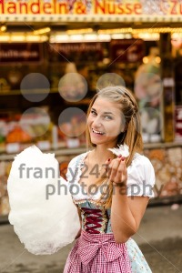 Beautiful woman with cotton candy - franky242 photography