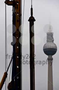 Berlin-8211-Construction-around-Television-Tower