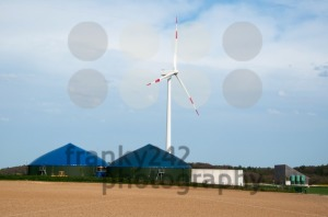 Biogas Plant With Wind Turbine - franky242 photography