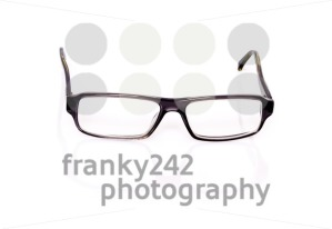Black Optical Glasses On White - franky242 photography