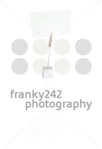 Blank business card in holder on white - franky242 photography