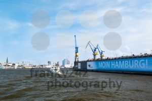 Blohm And Voss Drydock and skyline of Hamburg, Germany - franky242 photography
