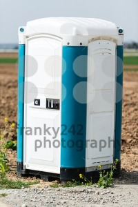 Blue Portable Toilet - franky242 photography