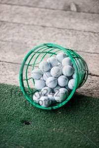 Bucket of Practice Golf Balls - franky242 photography