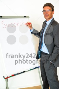Businessman with Flipchart - franky242 photography