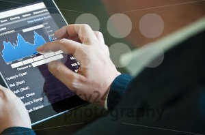 Businessman with digital tablet PC - franky242 photography