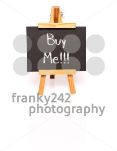 Buy Me. Blackboard with text and easel. - franky242 photography