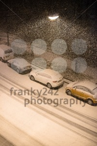 Cars parked in snow - franky242 photography