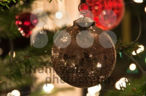 Christmas Balls Hanging From Christmas Tree - franky242 photography