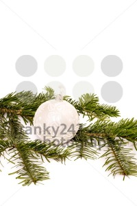 Christmas ball and fir branch for your text - franky242 photography