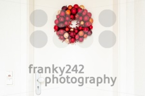 Christmas wreath on entrance door - franky242 photography