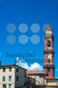 Church-tower-in-Cairo-Montenotte-Liguria