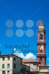 Church-tower-in-Cairo-Montenotte-Liguria