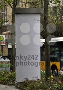 City scenery – advertising pillar with traffic - franky242 photography