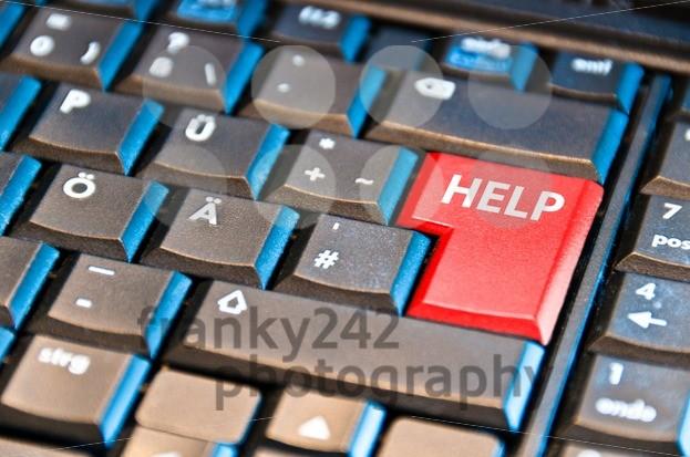 Computer-Keyboard-With-Help-Key