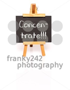 Concentrate. Blackboard with text and easel. - franky242 photography