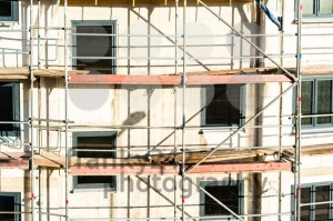 Construction of new house with scaffolding - franky242 photography