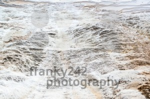 Detail of the travertine pools in Pamukkale, Turkey - franky242 photography