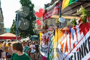 Die Linke Partei (The Leftwing party) is participating on Christopher Street Day - franky242 photography