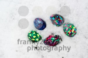 Easter Eggs in Snow - franky242 photography