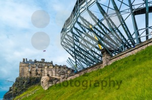 Edinburgh Castle getting ready for the military tattoo - franky242 photography