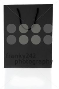 Empty Black Shopping Bag On White - franky242 photography