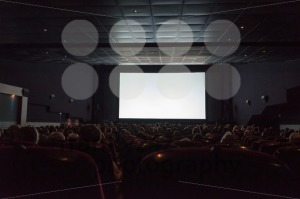 Empty cinema screen with audience - franky242 photography