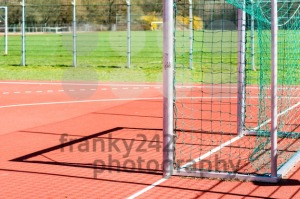 Empty outdoor handball goal - franky242 photography