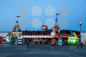 Entrance-of-Legoland-Germany-in-the-evening