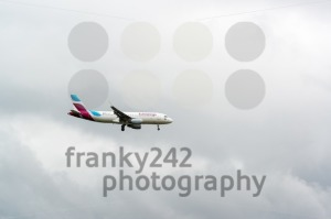 Eurowings airplane approaching Stuttgart - franky242 photography