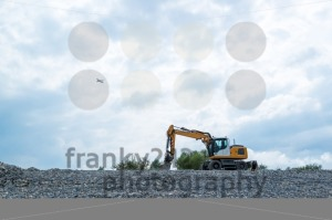 Excavator and plane - franky242 photography