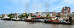Famous Hafenstrasse in Hamburg as seen from the harbor - franky242 photography