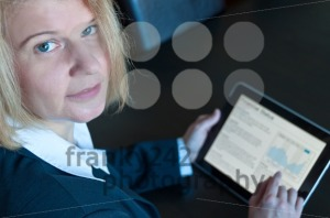 Female accountant with digital tablet - franky242 photography