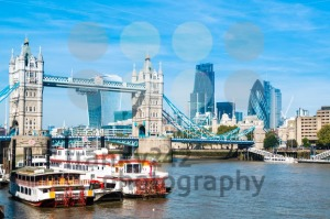 Financial District of London and the Tower Bridge - franky242 photography