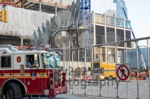 Fire-brigade-approaching-911-Memorial-Site