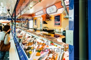 Fishmonger at old Fish Market by the harbor in Hamburg, Germany - franky242 photography