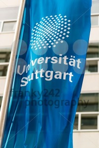 Flag in front of the University of Stuttgart, Germany - franky242 photography